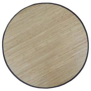 Bamboo Solid Area Rug (6' Round)