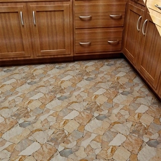 SomerTile 17.75x17.75-inch Atticus Beige Stone-look Ceramic Floor and Wall Tile (Case of 7)