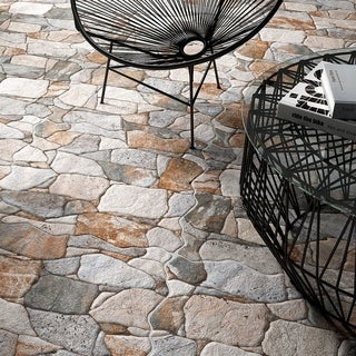 SomerTile 17.75 x 17.75-inch Atticus Gris Stone-look Ceramic Floor and Wall Tile (Case of 7)|https://ak1.ostkcdn.com/images/products/8085818/P15438740.jpg?_ostk_perf_=percv&impolicy=medium