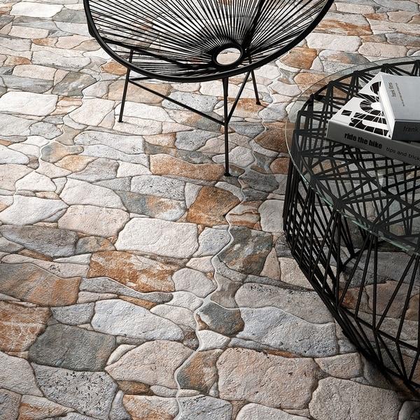 SomerTile 16.88x16.88-inch Atticus Gris Ceramic Floor and Wall Tile (7 tiles/14.15 sqft.)