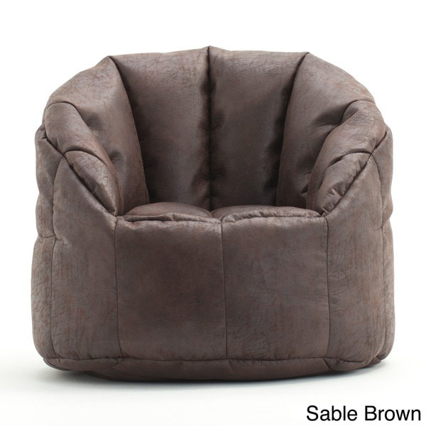 Beansack Big Joe Milano Faux Leather Bean Bag Chair Free
