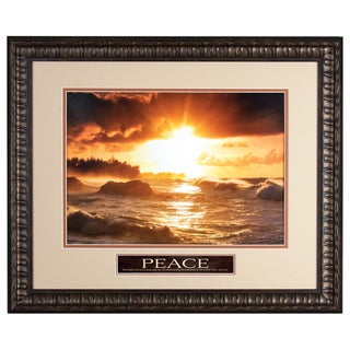 James Lawrence 'Sunset Waves' Framed Wall Art