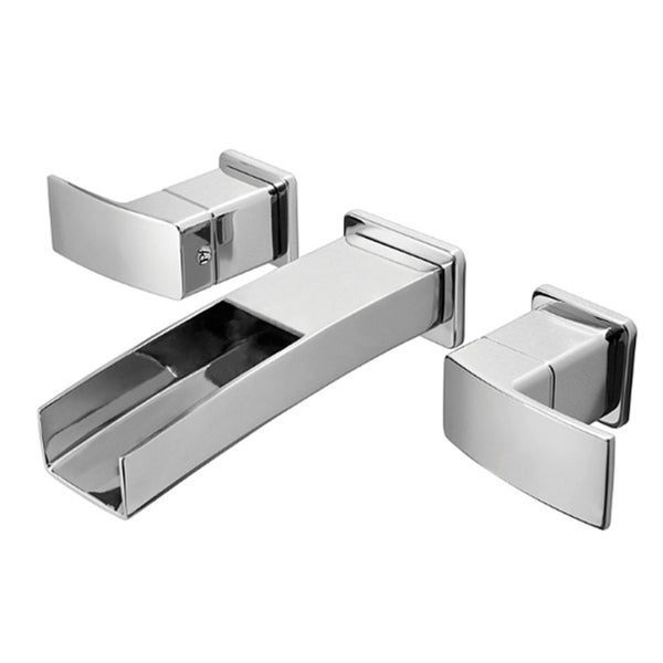 pfister polished chrome kenzo double handle wall mount bathroom faucet