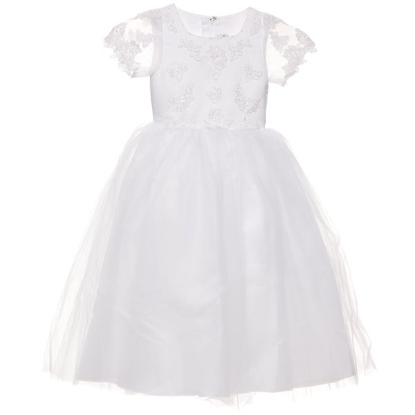 Sweetie Pie Girls Special-Occasion Dress with Back Zipper