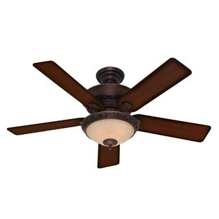 Hunter Italian Countryside Cocoa Finish 52-inch Ceiling Fan with Five Aged Barnwood Cherried Walnut Blades