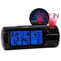 Sound Activated Indoor/ Outdoor Temperature Projection LED Alarm Clock