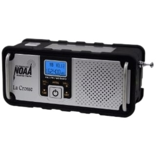 La Crosse Technology AM/FM/WB NOAA Weather Radio with Hand Crank and