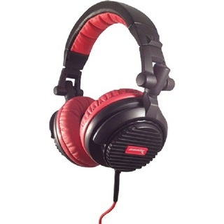 Soniq Thrust High Performance DJ Monitor Recording Red Headphones