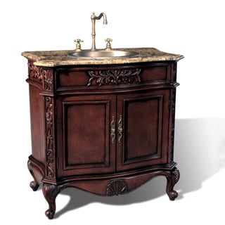 mable top 36 inch single sink bathroom vanity - Furniture In The Bathroom