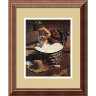 Jim Daly 'Saturday Night (detail)' Framed Art Print (13 x 16-inch)