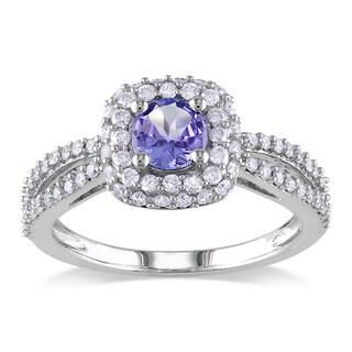 Miadora 14k White Gold 1/2ct TDW Diamond Tanzanite Ring (G-H, I1-I2)
