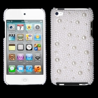 INSTEN White Pearl Diamante iPod Case Cover for Apple iPod Touch 4th Generation