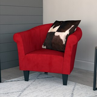 porch den fountain square woodlawn microfiber club chair - Red Living Room Chairs