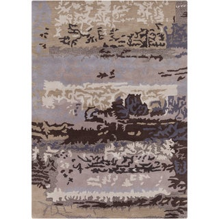 Artist's Loom Hand-tufted Contemporary Abstract Wool Rug (5'x7')