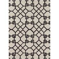 Artist's Loom Hand-tufted Contemporary Geometric Wool Rug - 5' x 7'