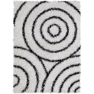 Artist's Loom Hand-woven Shag Rug (5' x 7')