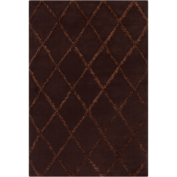 Artist's Loom Hand-tufted Contemporary Geometric Wool Rug - 7'x10'
