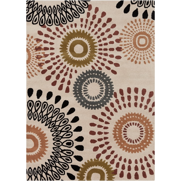 Artist's Loom Hand-tufted Contemporary Abstract Wool Rug (7'x10')