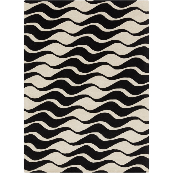 Artist's Loom Hand-tufted Contemporary Geometric Wool Rug (5'x7') - 5' x 7'