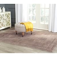 Safavieh Vintage Mouse Brown Distressed Panels Silky Viscose Rug (6'7 x 9'2)