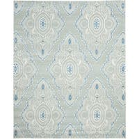Safavieh Handmade Wyndham Blue/ Ivory Wool Rug - 10' x 14'