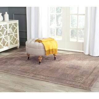 Safavieh Vintage Mouse Brown Distressed Panels Silky Viscose Rug (4' x 5'7)