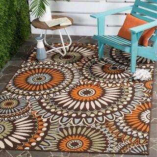 Safavieh Indoor/Outdoor Piled Veranda Chocolate/ Terracotta Rug (5'3 x 7'7)
