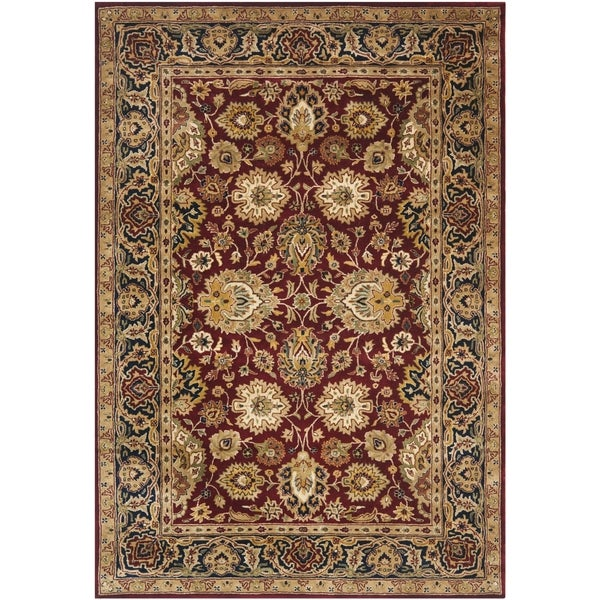 Safavieh Handmade Persian Legend Rust/ Navy Wool Rug - 7'6 x 9'6