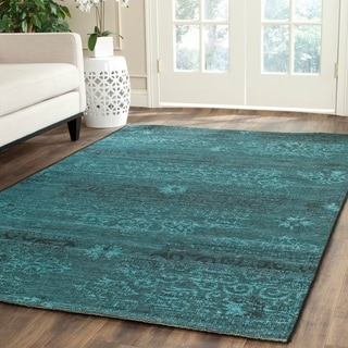 Shop Safavieh Palazzo Black Turquoise Overdyed Chenille