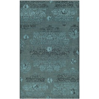Safavieh Palazzo Black/Turquoise Overdyed Chenille Area Rug (5' x 8')