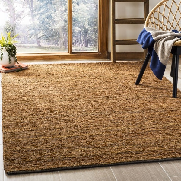 Safavieh Hand-knotted Organic Gold Wool Rug - 8' x 10'