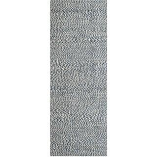Safavieh Casual Natural Fiber Hand-Woven Doubleweave Blue/ Ivory Jute Rug (2' x 8')