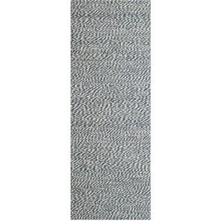 Safavieh Casual Natural Fiber Hand-Woven Doubleweave Blue/ Ivory Jute Rug (2'6 x 6')