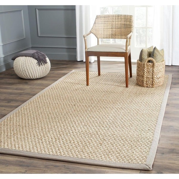 Shop Safavieh Casual Natural Fiber Natural And Grey Border