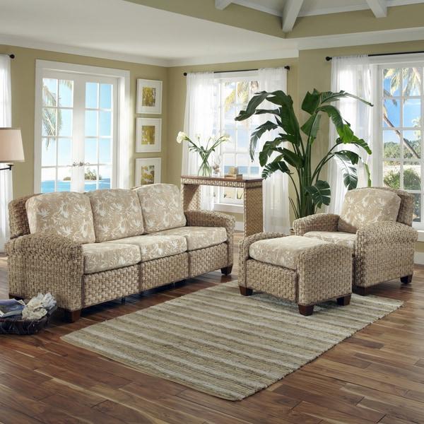 Home Styles Cabana Banana II Chair, Ottoman, and 3-seat Sofa