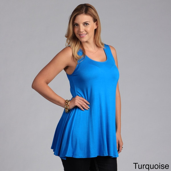 24/7 Comfort Apparel Plus Size Sleeveless Tunic Tank. Opens flyout.