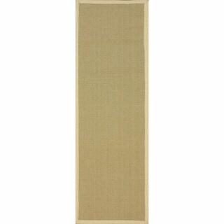 nuLOOM Handmade Alexa Eco Natural Fiber Cotton Border Jute Rug (2'6 x 8')