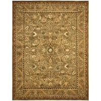 Safavieh Handmade Antiquity Olive/ Gold Wool Rug - 11' x 15'