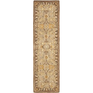 Safavieh Handmade Anatolia Oriental Dark Grey/ Brown Hand-spun Wool Rug (2'3 x 12')