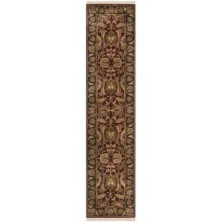 Safavieh Handmade Classic Burgundy/ Black Wool Rug (2'3 x 10')