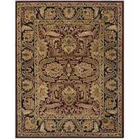 Safavieh Handmade Classic Burgundy/ Black Wool Rug - 7'6 x 9'6