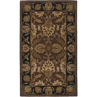 Safavieh Handmade Classic Brown/ Black Wool Rug (3' x 5')