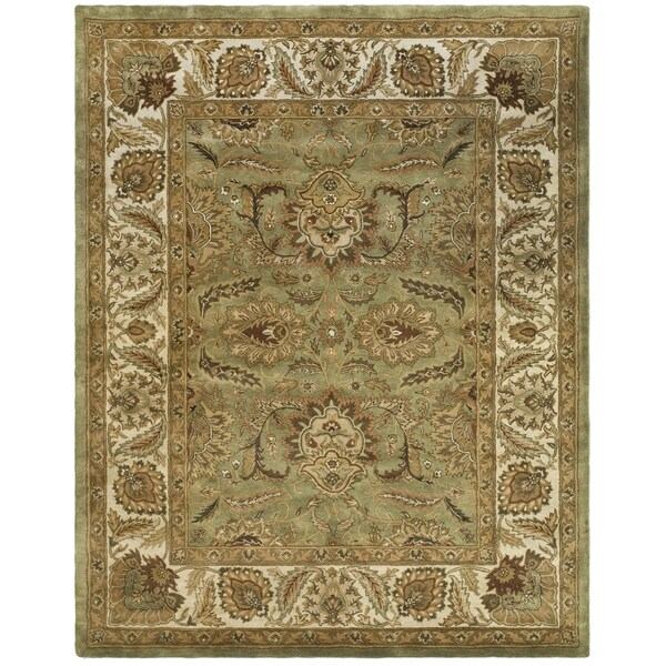 Safavieh Handmade Classic Green/ Ivory Wool Rug - 9'6 x 13'6