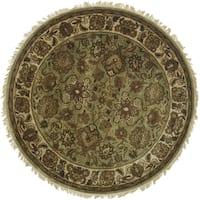 Safavieh Handmade Classic Light Green/ Ivory Wool Rug - 6' Square