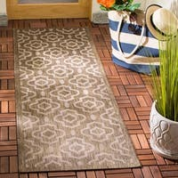 Safavieh Indoor/Outdoor Courtyard Black/Beige Geometric Rug - 5'3 x 7'7