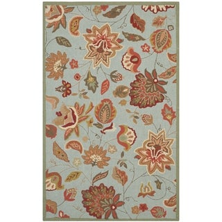 Safavieh Hand-Hooked Four Seasons Blue Polyester Rug (8' x 10')