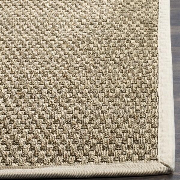 safavieh casual natural fiber natural and ivory border seagrass rug 6u0027 x 9u0027 free shipping today