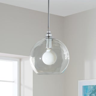 Uptown Clear Globe 1-light Chrome Pendant