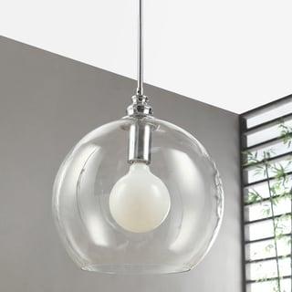 Uptown Clear Globe 1-light Chrome Pendant