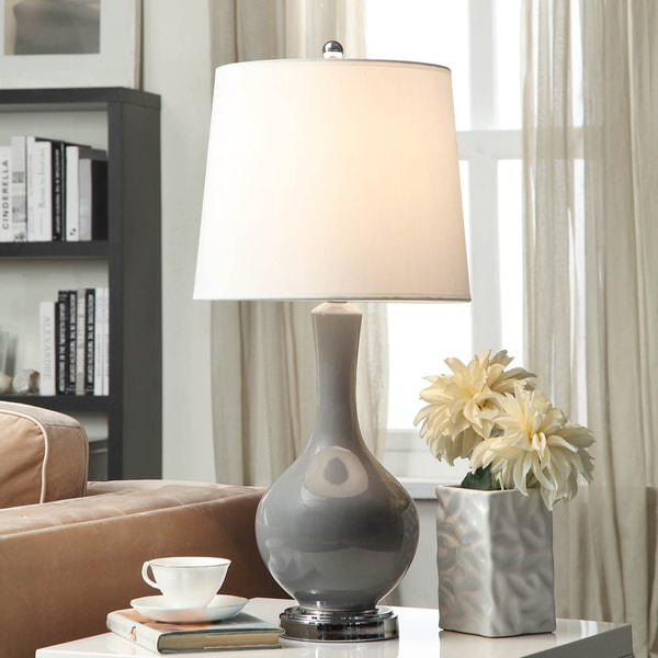 Auva Grey Table Lamp Free Shipping Today Overstock Com